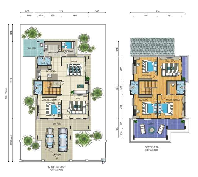 Floor plan of double storey house escortsea for Best house design malaysia
