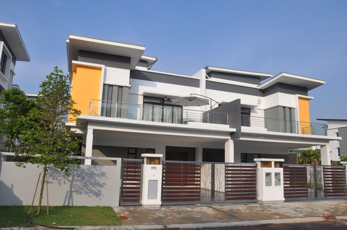 New semi detached house for sale at precinct 12 johor bahru for Home design johor bahru