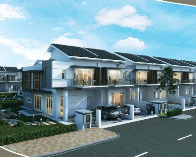 New 2 3 sty terrace link house for sale at aquamarine for The terrace land and house