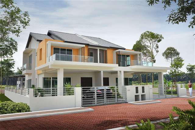 New Semi Detached House For Sale At Pearl Residence 2 Sty