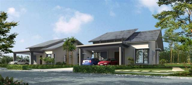 New bungalow house for sale at safira impiana villa for Single storey bungalow design