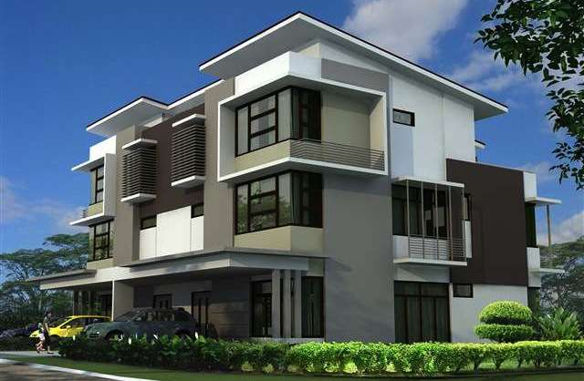 New semi detached house for sale at promenade 3 storey for 3 storey commercial building design